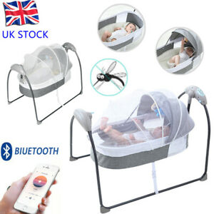 Folding Baby Electric Bouncer Swing Chair Rocker Outdoor Infant Cradle Seat Crib