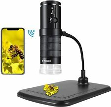 1000X WiFi Digital Mikroskop Mini HD Microscope Kamera USB 8 LEDs Lupe Endoskop