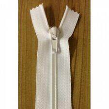 Nylon Open End Zip - White