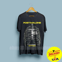 Post Malone Beerbongs & Bentleys Tour 2019 Men's Black T-Shirt Size S-6XL