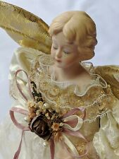 "Vintage 11"" Beautiful Roman Inc. Victorian Lady Angel Tree Topper Christmas"
