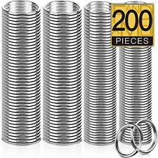 Best 200 Pieces Split Key Rings Bulk for Keychain and Art Crafts Lanyards New