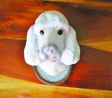 Cody Foster White Poodle Dog Paper Mache Dog Show Plaque Cool!