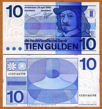 Netherlands, 10 Gulden, 1968, P-91 (91b), Pre-Euro, UNC