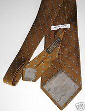 Georgio Armani Silk Tie Cravatte Italy Tobacco Brown Blue