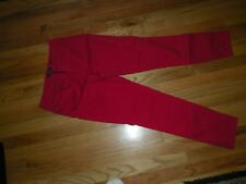 Charter Club size 6 red skinny ankle stretch denim jeans low rise 28 inseam