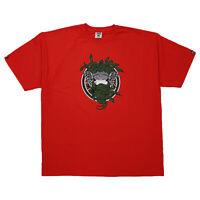 Mens Crooks Castles War Ready Medusa T-shirt Red