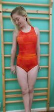 Orange marbled leotard - (age 14)