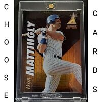 Don Mattingly Cards New York Yankees Choose Pick Your Cards