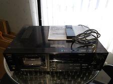 Aiwa AD F880 E Stereo Kassettendeck inkl Fernbedienung und Bedienungsanleitung