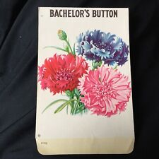 VINTAGE BACHELOR's BUTTON FLOWER EMPTY SEED PACKAGE