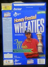 Honey Frosted Wheaties Tiger Woods Collector's Cereal Box - Our Newest Champion