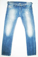 *HOT AUTHENTIC Men's DIESEL @ THAVAR 8QL Slim SKINNY DISTRESS Denim Jeans 33 x32