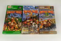 Donkey Kong Country 1 + 2 + 3 NTSC J Japan Nintendo Super Famicom SFC DKC