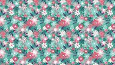 Fabric 100% cotton, Makower UK. Fruity Friends Floral Blue 1945/B