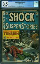 SHOCK SUSPENSTORIES 3 CGC 3.5 OW EC JOLTING TALES TENSION PIECE OUT 1ST PAGE A4
