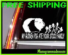 MY GUINEA PIG ATE YOUR STICK FAMILY VINYL DECAL STICKER CAR TRUCK