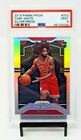 2019 Prizm RC SILVER REFRACTOR Chicago Bulls COBY WHITE Rookie Card PSA 9 MINT