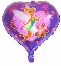 Tinkerbell Heart foil balloon Girls Birthday Party Decoration