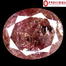 1.58 ct PGTL CERTIFIED  OVAL CUT (8 X 6 MM) GENUINE FANCY DARK PINK DIAMOND