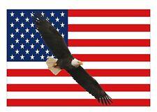 2X American Eagle Flying USA Flag Car Decal Window Sticker Patriotic Auto Bumper