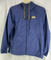L.L. Bean Mountain Classic Mens Blue Full Zip Jacket Anorak Windbreaker Hoodie L