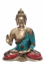 """Bronze Buddha Statue Metal Brass Big Outdoor Garden Décor Old Sculpture 23"""""""