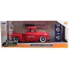 JADA 1/24 JUST TRUCKS 1955 CHEVY STEPSIDE PICKUP W/ EXTRA WHEELS DIECAST CAR