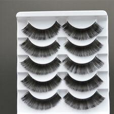 Gruesas Negro Pestañas postizas Extensión individuales Maquillaje cosméticas
