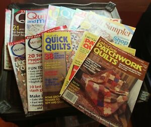 LOT OF 14 QUILT QUILTING MAGAZINE PATTERN BOOKS MCCALLS  LADY;S SAMPLER COUNTRY