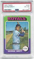 1975 Topps George Brett Vintage Baseball Rookie Card RC #228 Royals VG-EX PSA 4