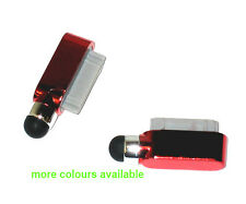 Dock Charge Port Dust Cover Pen Stylus For iPad 2 3 iPhone 4 4G 4S 3G 3Gs Red UK