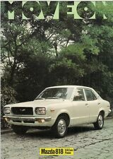 Mazda 818 1974-75 UK Market Sales Brochure Saloon Coupe Estate