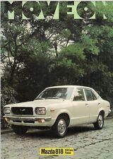 Mazda 818 1974-75 UK Market Sales Brochure Saloon Coupe Estate