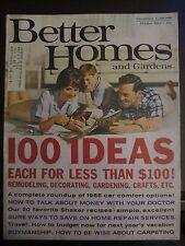 Better Homes & Garden Magazine October 1965 100 Ideas for Less than $100 (E)