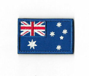 AUSTRALIA FLAG Hook and Loop Patch Embroidered Badge Australian PT563