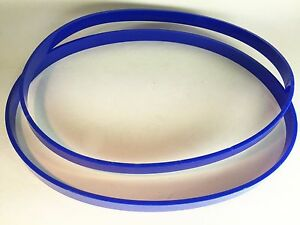 """2 URETHANE TIRES for 3386 SKIL 3386-01 9"""" Band Saw ULTRA Thick 1/8"""" Blue USA"""