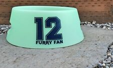 Silicone Dog Bowl Seattle Seahawks Inspired Furry Fan 12 Travel or Outdoors