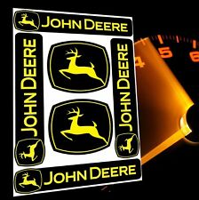 6 JOHN DEERE AUFKLEBER SCHWARZ STICKERS AUTO MOTO MOTORRAD TRAKTOR SPONSOR D 25