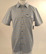 2015 NWT MENS VOLCOM BENTON WOVEN SHIRT $55 M bold blue short sleeve classic