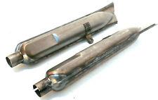 Paar Auspufftöpfe Auspuff Stahl roh f. BMW R51 R61 R71 R66 R51/2 M72 Ural Dnepr