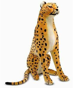 New Large Giant Melissa & Doug Plush Lifelike Cheetah Stuffed Animal Toy Doll