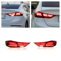 Red For 2015-2018 Hyundai Elantra LED Tail Lights Rear Lamp Reverse Assembly