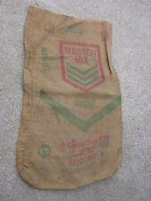 Vintage Master Mix Central Soya Fort Wayne Indiana burlap sack