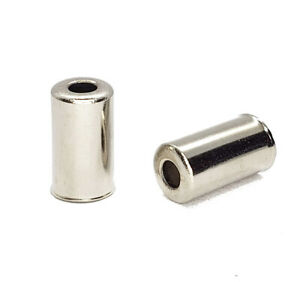 Bicycle 5mm Brake Cable Housing Ferrules - Silver Aluminum