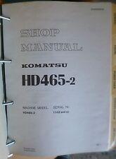 Komatsu Dumper hd465-2 taller de libro de mano