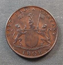 East India Company - Madres Presidency, 10 Cash, 1808, toned