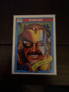 1990 Marvel Universe Impel Series 1 Card ~ STAN LEE ~ #161 PSA QUALITY