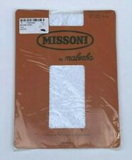 VINTAGE MISSONI BY MALERBA WHITE LACE TIGHTS PANTYHOSE NEW IN PACKAGING SIZE S