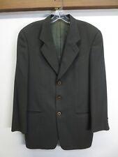 EUC Giorgio Armani Blazer Jacket Dark Olive Green !00% Virgin Wool Ventless 38R